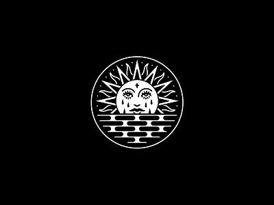 Sunset ocean sunset graphic design occult rad illustration band tattoo dooom design merch