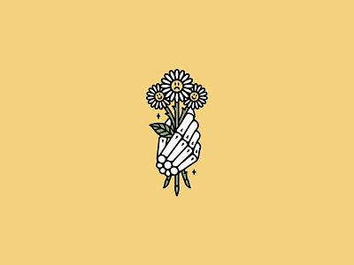 Cheer Up tattooflash occult flowers rad illustration band tattoo dooom design merch