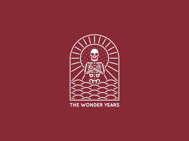 Ocean merchandise skeleton tattoo merch band design dooom