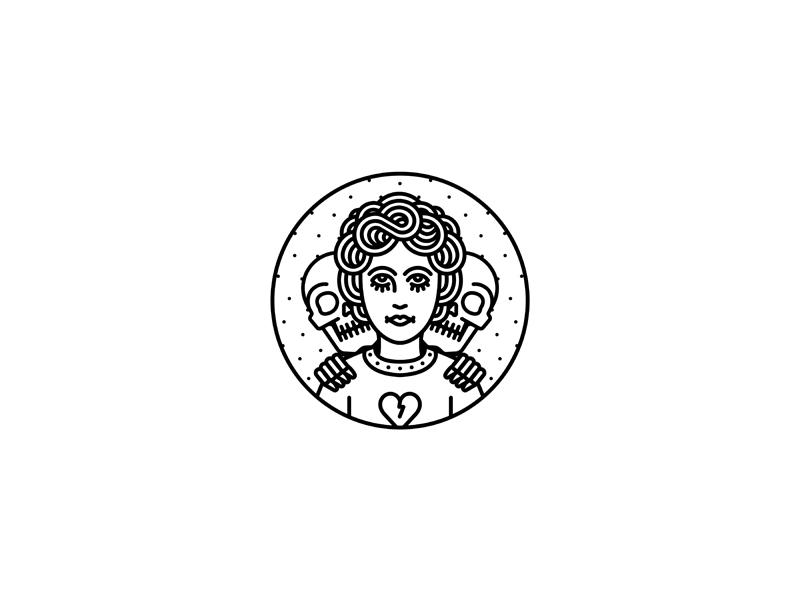 Lurk dooom merchandise illustration tattoo merch design