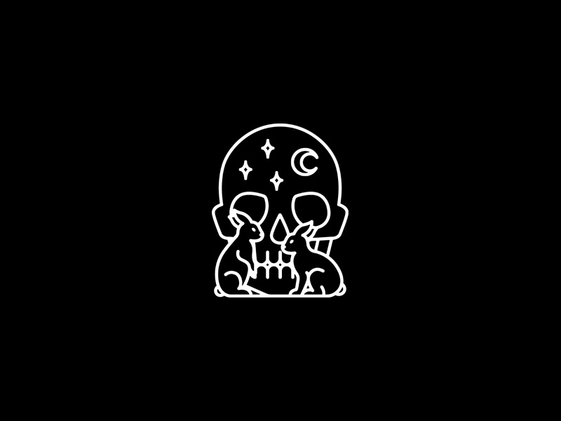 Midnight skull graphic occult merchandise illustration band tattoo merch design dooom