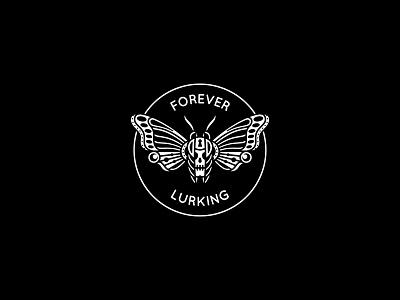 Forever Lurking graphic skull merchandise skeleton illustration band tattoo design merch