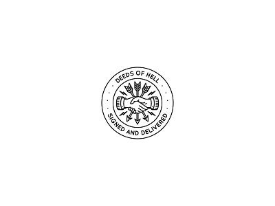 Deeds Of Hell logo vector occult traditional rad illustration band tattoo dooom design merch