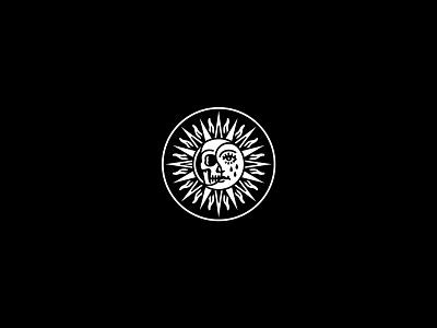 Sun graphic occult skeleton merchandise illustration band tattoo dooom design merch