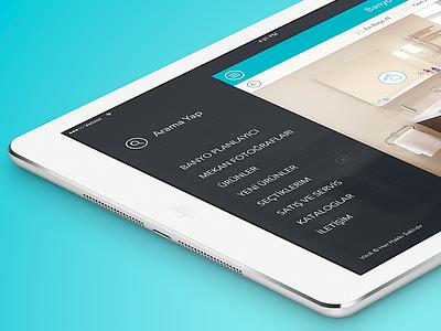 Vitra iPad App Menu ipad menu ui ios app vitra interface flat minimal design navigation