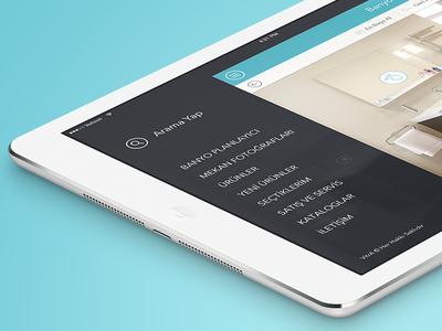 Vitra iPad App Menu