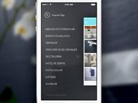 Vitra iPhone App Navigation menu app design flat interface ios iphone minimal navigation ui vitra