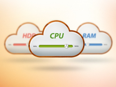 Cloud Hosting cloud cpu ram hdd