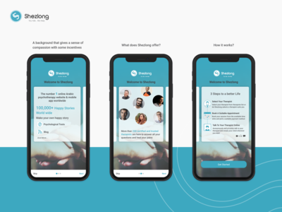 Shezlong Online Therapy Mobile App - Onboarding android app design onboarding mobile uxdesign branding ui illustration
