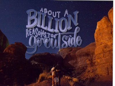 A Billion Reasons photo overlay modern calligraphy lettering hand lettering digital lettering astrophotgraphy