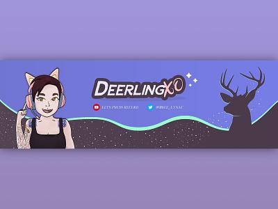 DeerlingXO Twitch Banner deer deerlingxo gaming banner twitch