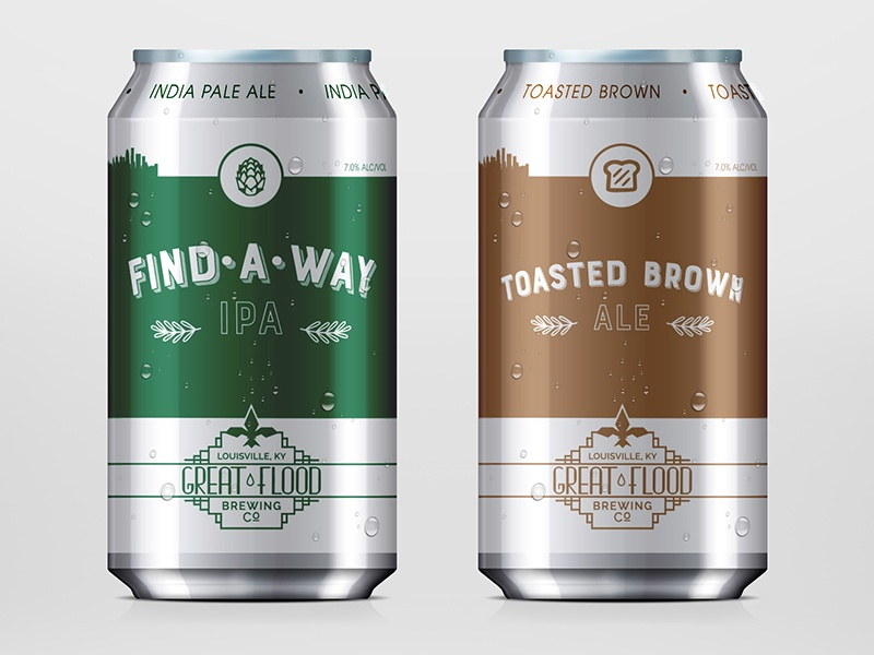 Great Flood Beer Cans ale ipa aluminum can cans beer kentucky louisville great flood brewing company