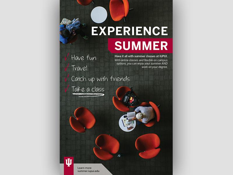 IUPUI Summer Classes Ad summer education class summer classes iu indiana indianapolis iupui