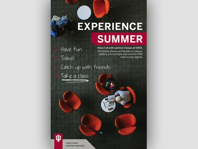 IUPUI Summer Classes Ad