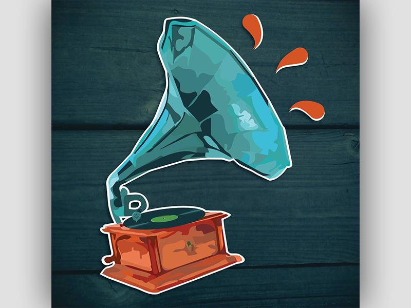 Gramophone song record vinyl music gramophone