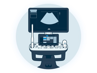 Ultrasound Machine Graphic
