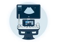 Ultrasound Machine Graphic