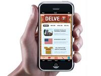 Delve Magazine iPhone Application design