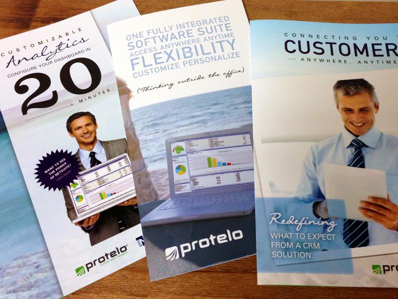Latest Campaign Brochures software laptop mailer print work brochure campaign tri-fold bi-fold crm marketing business typography shot cover design