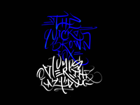 Calligraffity tryout on iphone - Autodesk Sketchbook