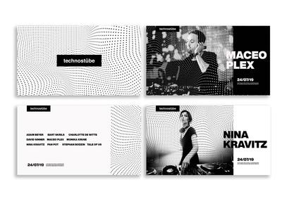 technostübe - technofestival visual identity concept