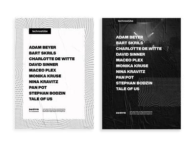 technostübe -festival visual identity concept - poster design
