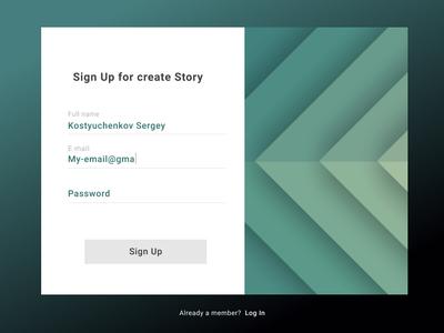 Signup Form login form