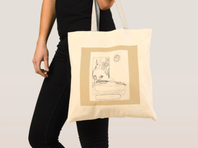 Couple Doodle Tote