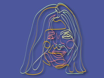 portrait of Nastya vector illustration graphic design adobe