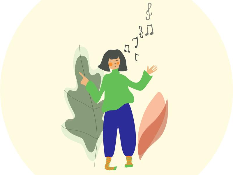 music therapy web animation vector design illustration graphic design adobe