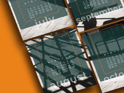 Calendar 2018 design graphic design adobe