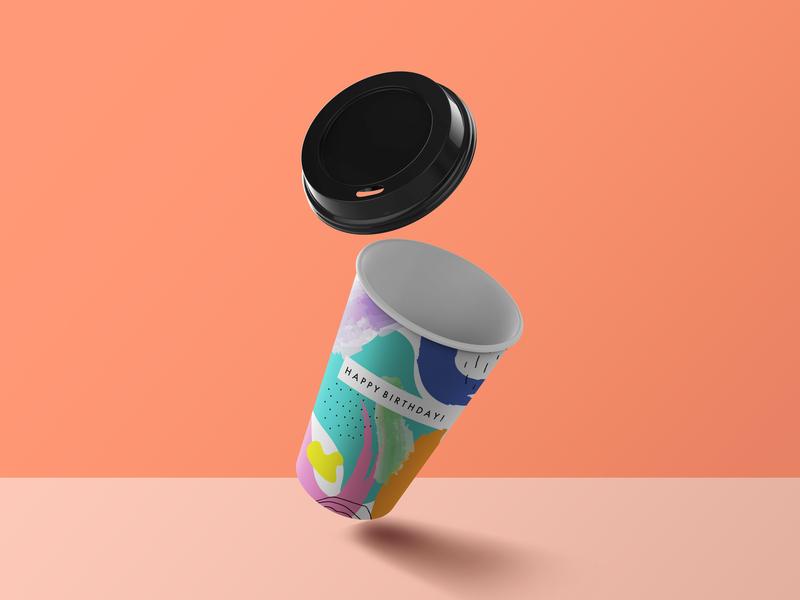birthday coffee cup please design illustration graphic design adobe
