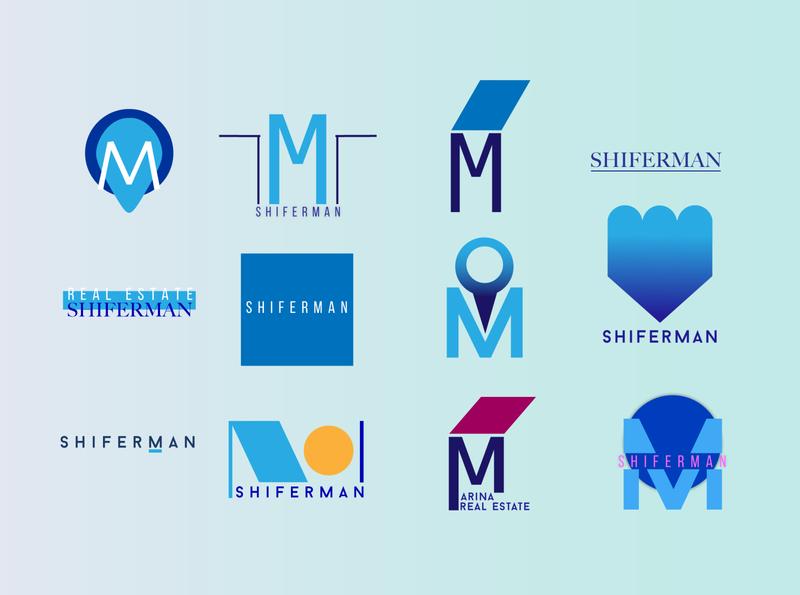 first round of logo proposal vector design illustration graphic design adobe