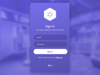 Sign in Screen for Children's Museum App