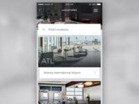Travel App Locations Screen