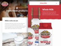 Gustafson Dairy Farms Product Page