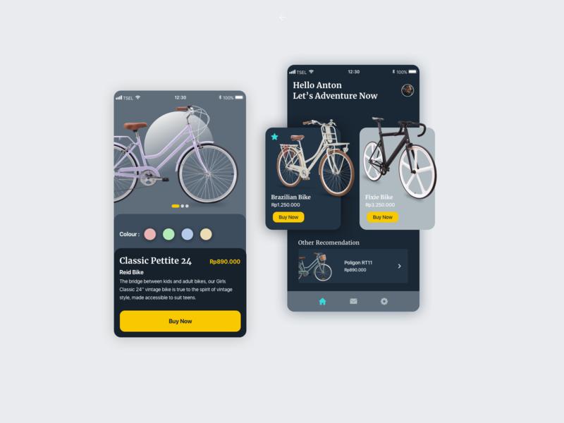 bike page app icon website apps ux typography branding ui dribbble design