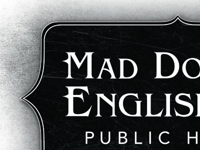 Mad Dogs and Englishmen Typographic Logo mad dogs englishmen typographic logo branding