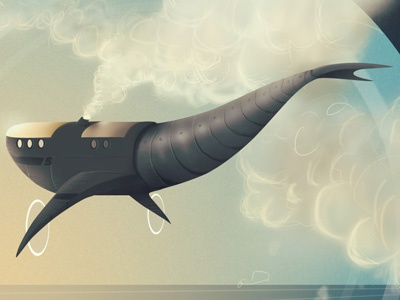 Whale Pilot album illustration whale pilot album cover art illustration