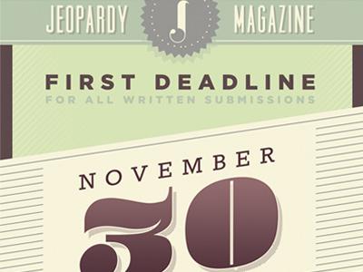 Jeopardy Magazine poster vintage poster magazine jeopardy custom type