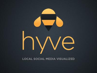 Hyve app logo app ipad logo branding bee hive social media