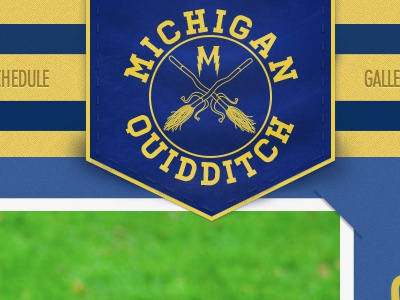 Michigan Quidditch banner michigan university quidditch banner website web design broom harry potter