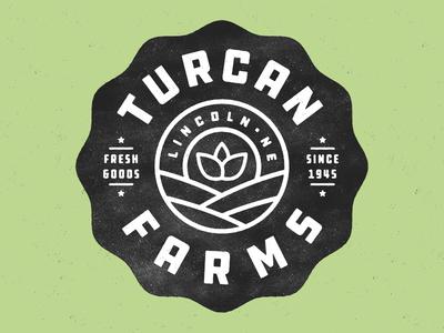 Turcan Farms texture plants logo grit fresh farming distressed branding