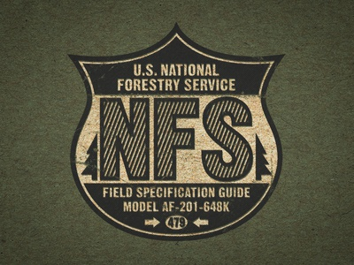 U.S. National Forestry Service Badge Play national texture vintage usa forest classic badge
