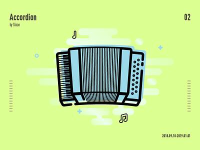 Accordion sketch photoshop music ui illustration