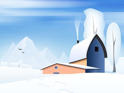 snow day winter illustration design photoshop snow