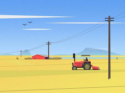 Farming art design illustration photoshop