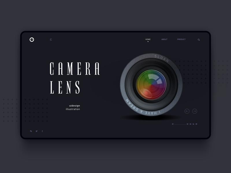 Camera lens art 插画 illustration uxdesign uidesign