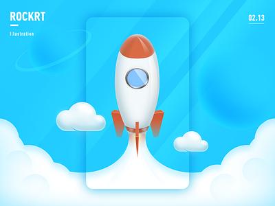 Rocket 插画 design art illustration photoshop