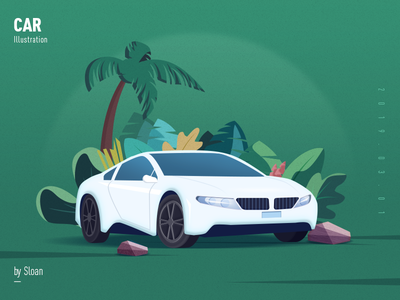 Car car 插画 design art illustration photoshop